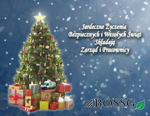 Safe and warm wishes Merry Christmas consist BOSSG Management and Employees