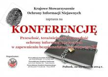 "Conference on ""Past, present and future protection of classified information in ensuring the national security of Poland"""